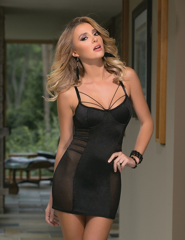 SHEER SIDE CHEMISE