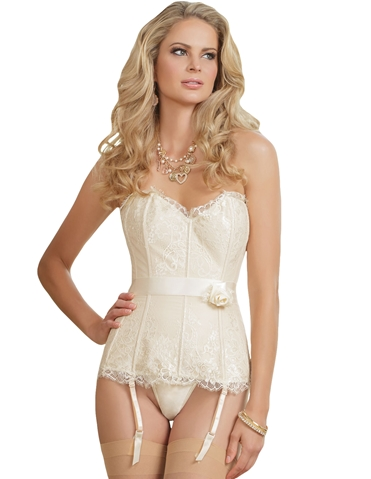 SLEEK IVORY LACE CORSET