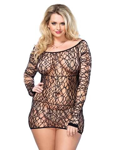 SPIDER NET DRESS - PLUS