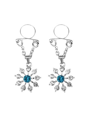 SAPPHIRE AND DIAMOND STAR NIPPLE JEWELRY