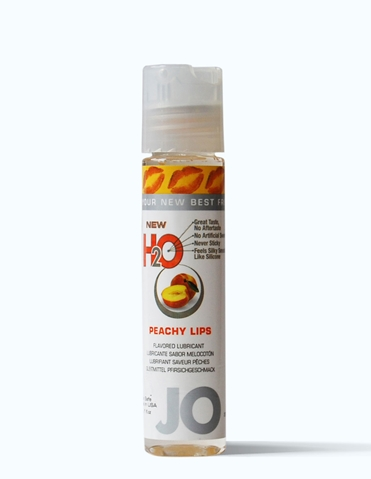 JO H2O FLAVORED LUBE 1OZ - PEACHY LIPS