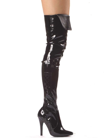 SIMONE PATENT LEATHER THIGH HIGH BOOT