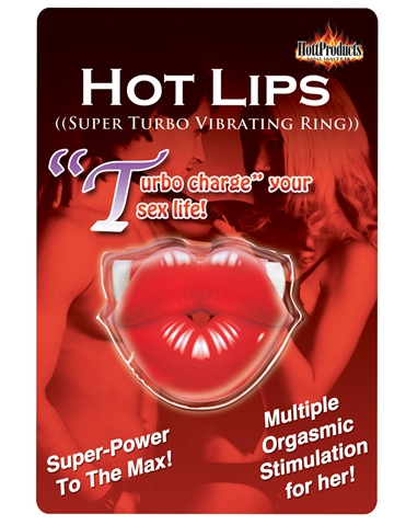 HOT LIPS VIBRATING COCK RING