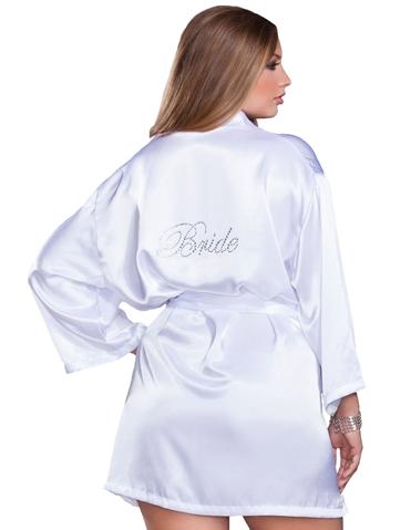 SILKY SOFT BRIDE ROBE - PLUS