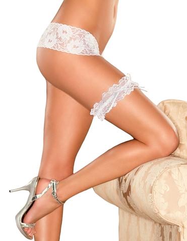 BRIDAL LACE LEG GARTER - PLUS