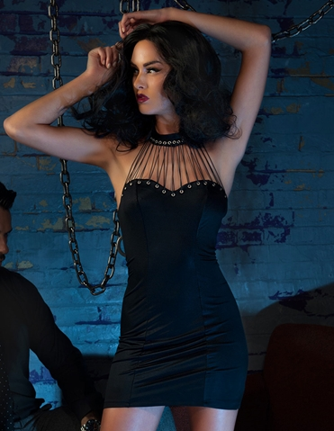 FETISH LACE-UP CLEAVAGE DRESS