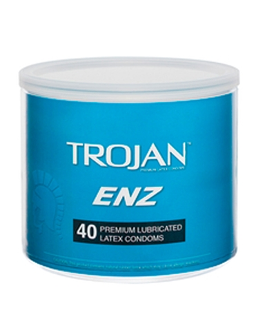 ENZ LUBRICATED CONDOM BOWL 40 COUNT