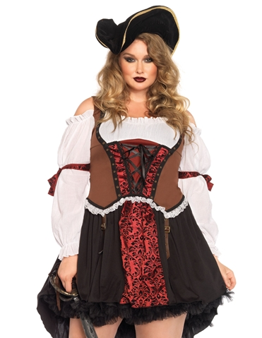 RUTHLESS PIRATE WENCH COSTUME - PLUS