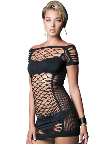 MAKE A SCENE SEAMLESS NET DRESS