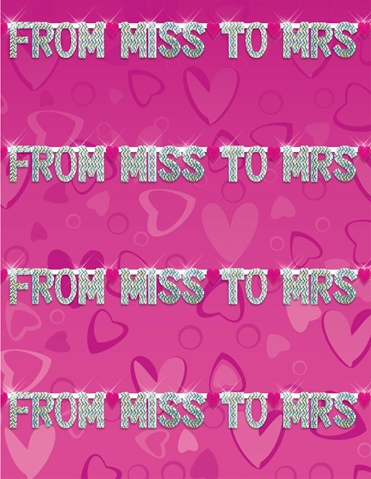 FROM MISS TO MRS PARTY BANNER