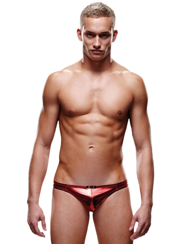LIQUID METAL LOW-RISE THONG