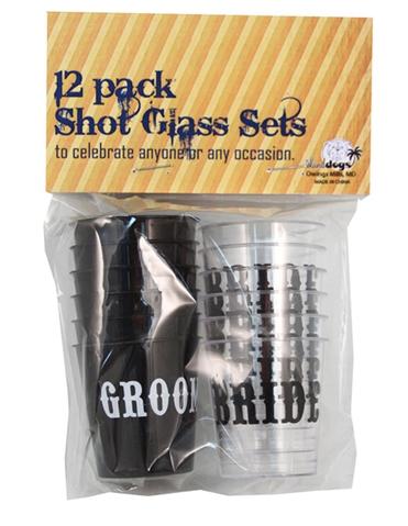 BRIDE & GROOM SHOT GLASS SET