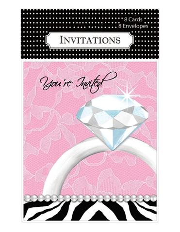 DIAMOND BACHELORETTE PARTY INVITATIONS