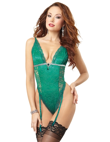 ENVY ME JEWELED LACE TEDDY