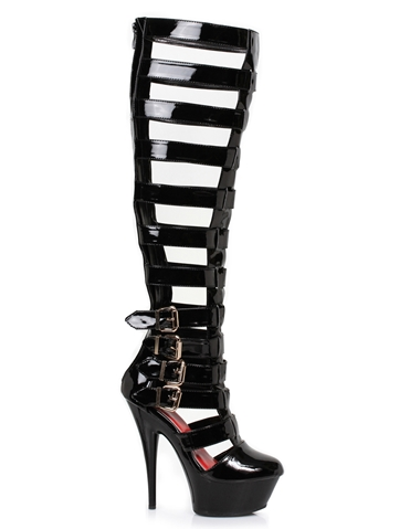 CRUZ PATENT LEATHER GLADIATOR BOOT