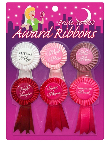 BRIDE TO BE AWARD RIBBONS