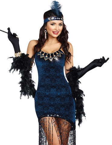 DOWNTOWN DOLL FLAPPER COSTUME