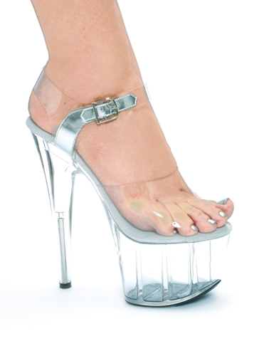 BROOK 7INCH CLEAR PLATFORM STILETTO