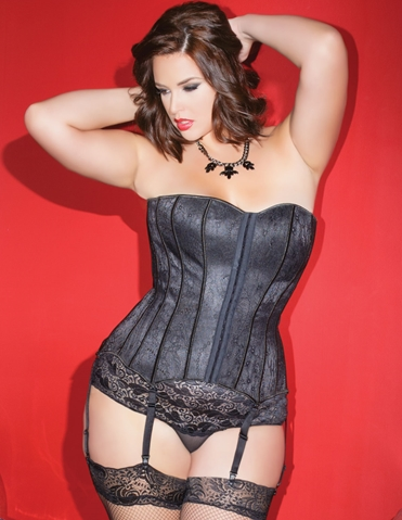 TIMELESS LACE OVERLAY CORSET - PLUS