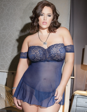 AFFLUENT AFFAIR BABYDOLL - PLUS