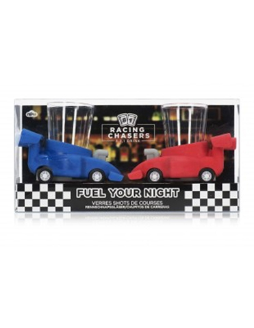 RACING CHASERS RACE CAR SHOT GLASSES