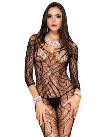 MICRO NET CROTCHLESS BODYSTOCKING