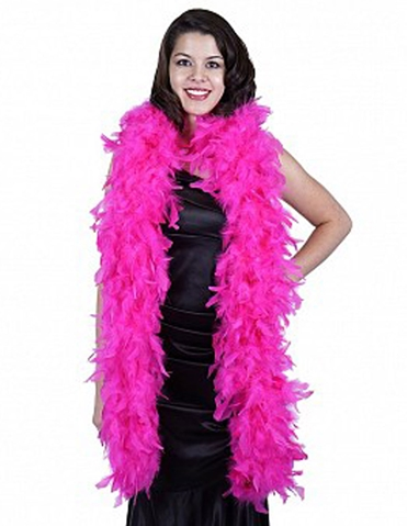 CHANDELLE FEATHER BOA HOT PINK