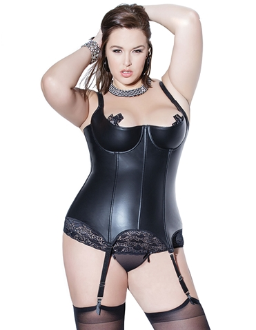 BONDAGE BETTIE BONED BUSTIER - PLUS