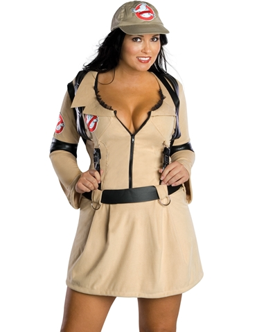 GHOSTBUSTER WOMENS PLUS COSTUME