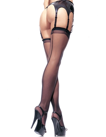 SHEER BACKSEAM STOCKINGS - PLUS
