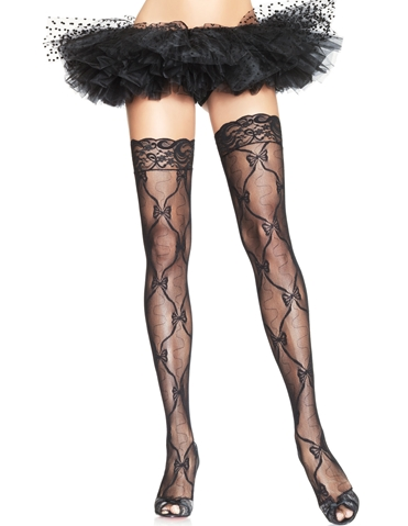 BOW LACE THIGH HIGHS