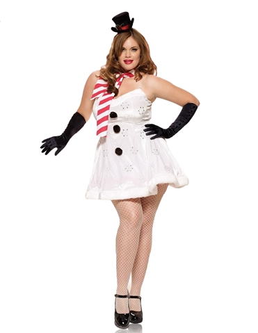MISS SNOWMAN COSTUME - PLUS
