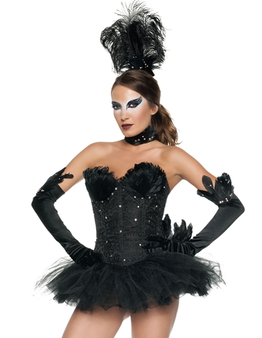 SEQUIN BLACK SWAN COSTUME