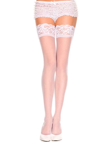 SHEER LACE TOP STAY UP THIGH HIGH - PLUS