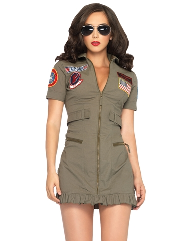 2PC TOP GUN DRESS COSTUME