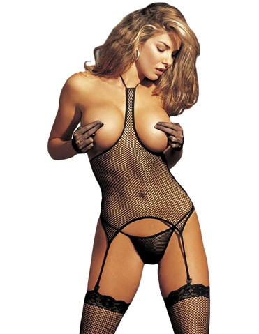 FISHNET BOOBOUT BUSTIER SET - PLUS