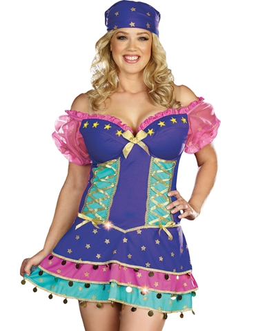 QUEEN OF THE GYPSIES COSTUME - PLUS
