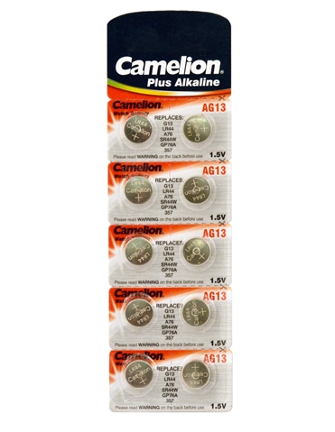CAMELION 10 AG13 BATTERIES