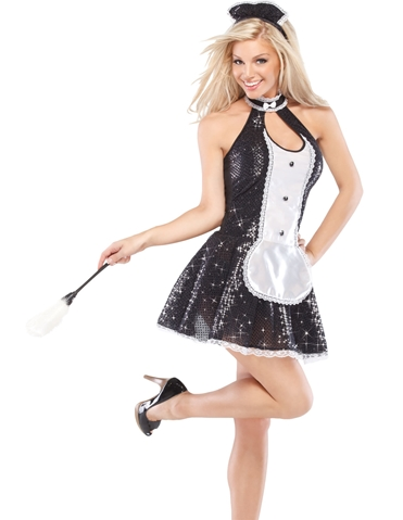 SEQUIN FRENCH MAID