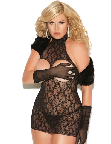LACE CUPLESS DRESS