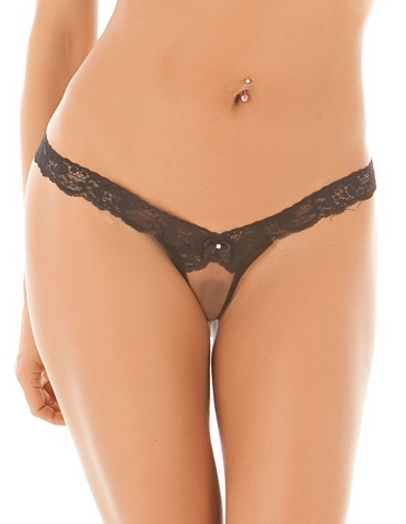 CRISS CROSS CROTCHLESS THONG