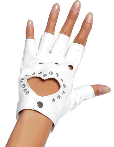 GLOVE WITH HEART CUTOUT