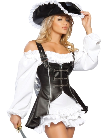 4PC PIRATE MAIDEN COSTUME