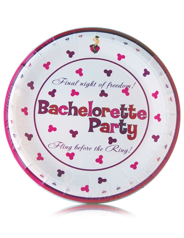 BACHELORETTE 7 INCH PARTY PLATE