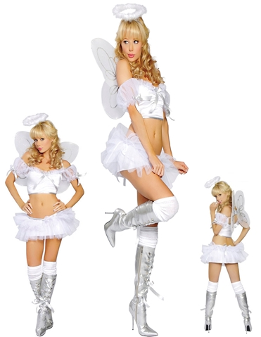 4PC ANGEL BABE COSTUME