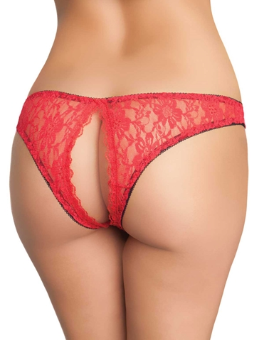 PEEK A BOO LACE TANGA - REG & PLUS