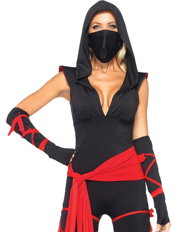 5PC DEADLY NINJA COSTUME